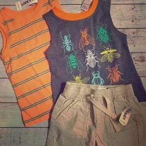 Old Navy Baby Boy Shorts & 2 Top 12-24 Months